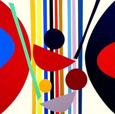 Vertical Rhythm by Sir Terry Frost RA (1915-2003)  25 Colour Silkscreen 2002  71.5 x 70.5cm