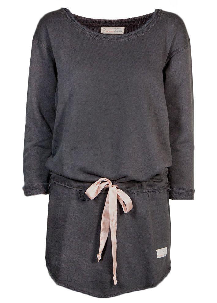 Odd Molly Sweatshirt mørkegrå 117M-990 Mind Rinse Long Sweater - asphalt – Acorns