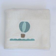 Hot Air Balloon Cellular Cotton Baby Blanket. Available online at http://www.babesandkids.co.za