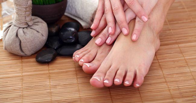 Spruzzi di fungo di piede