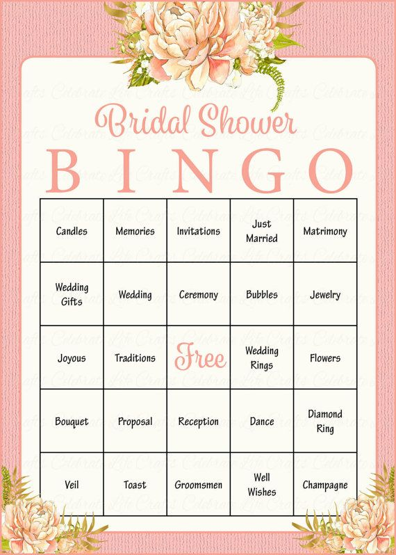 100 bridal bingo cards
