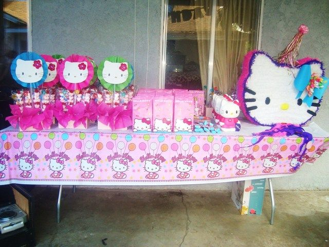 71 best images about hello kitty birthday on pinterest for Table exterieur hello kitty