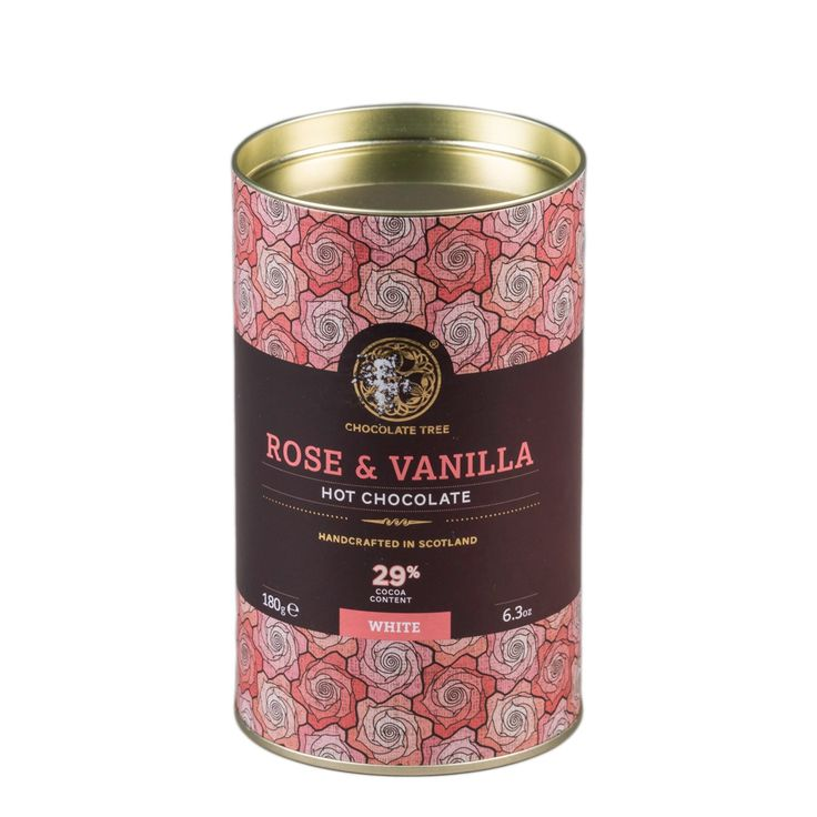 Organic hot chocolate - rose and vanilla flavour #ShopHistory