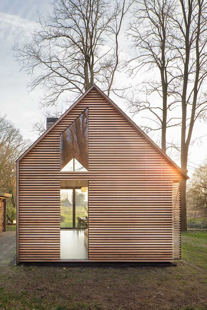 In The Rural Area North Of Utrecht A Compact Recreation House Has Been  Realized.