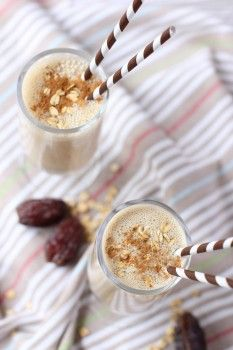 Gingerbread Dough Boy Smoothie - like a big glass of drinkable, sweetly spiced oatmeal!