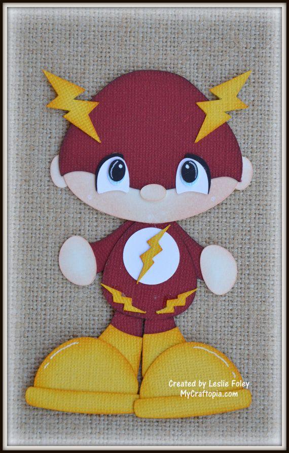 Flash Super héroe preconfeccionados Scrapbooking por MyCraftopia