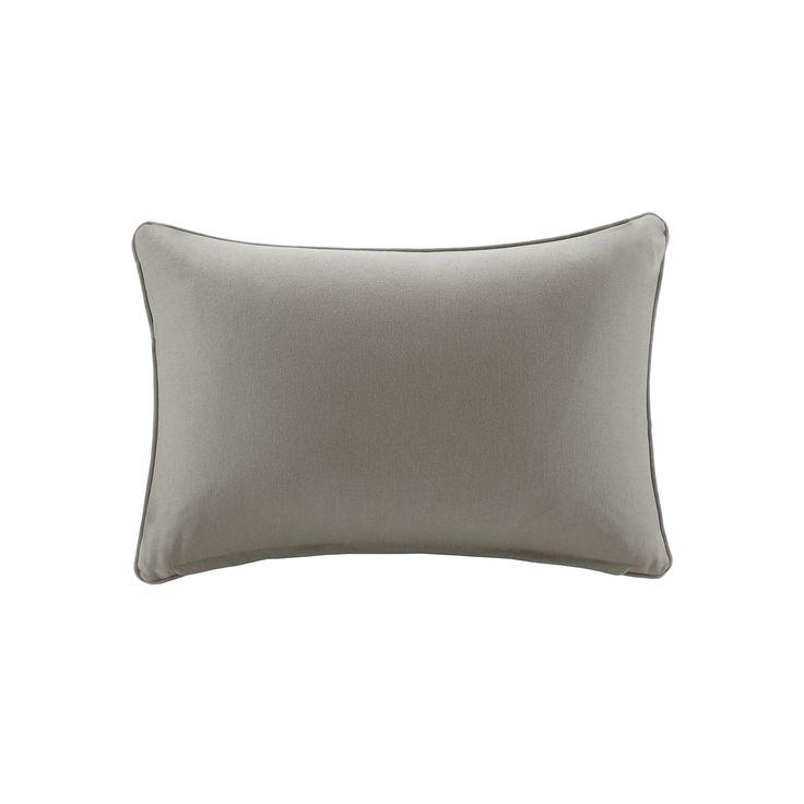 Madison Park 3M Scotchgard Outdoor Oblong Throw Pillow, Grey