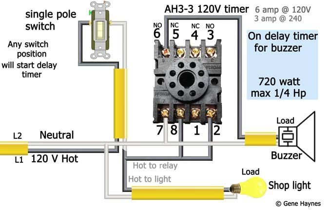 How To Wire Off Delay Timer Electrical Wiring Colours Timer Electrical Diagram
