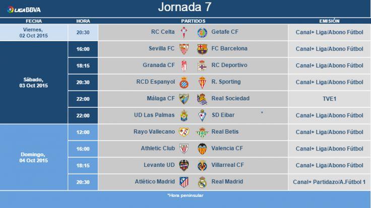 HORARIOS | Hoy hemos conocido cuándo se disputarán los encuentros de la jornada 7 de la Liga BBVA.