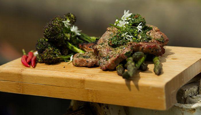 Lamb Shoulder with Wild Garlic Salsa Verde http://gustotv.com/recipes/lunch/lamb-shoulder-with-wild-garlic-salsa-verde/