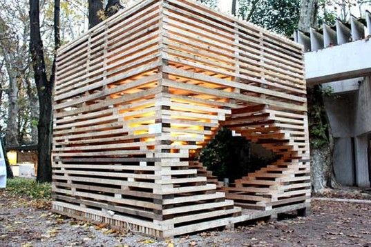Rintala Eggertsson's MILU is a Sculptural Wooden Pavilion Made from Locally Sourced Timber | Inhabitat - Sustainable Design Innovation, Eco Architecture, Green Building