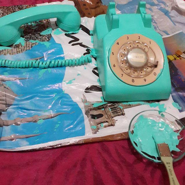 BeyazBegonvil I Kendin Yap I Alışveriş IHobi I Dekorasyon I Kozmetik I Moda blogu: Kendin Yap I Antika Telefonun Geri Dönüşümü
