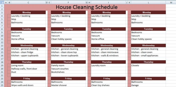 646 best images about excel project management templates for Domestic cleaning schedule template