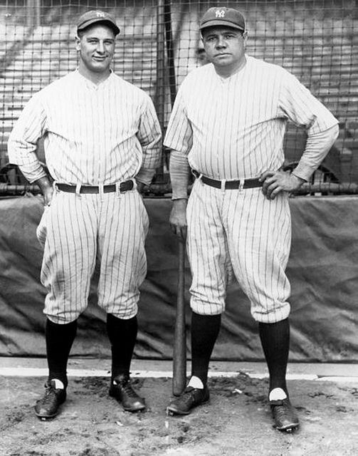 Lou Gehrig e Babe Ruth dei New York Yankees