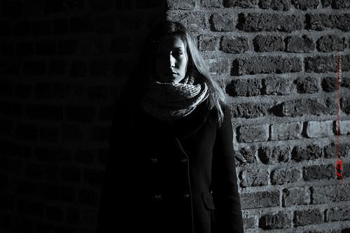 Maria in the morning light at the Bastion in Timisoara - Chiaroscuro