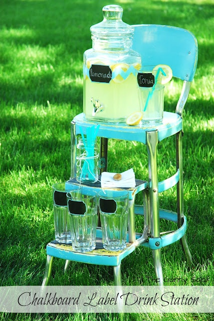 The Gunny Sack: {Chalkboard Label} Summer Drink Station
