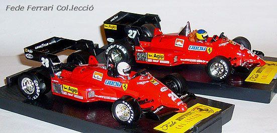Ferrari 126C4 F1 Turbo 1984 de M.Alboreto y R.Arnoux, de Brumm a escala 1:43