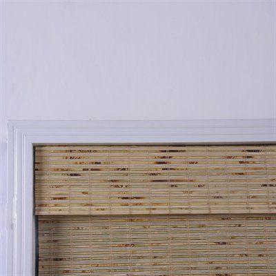 Arlo Blinds 04TBK Petite Tropical Rustic Bamboo Roman Shade