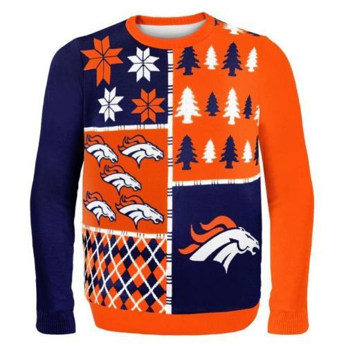 Denver Broncos Busy Block Style Ugly Sweater