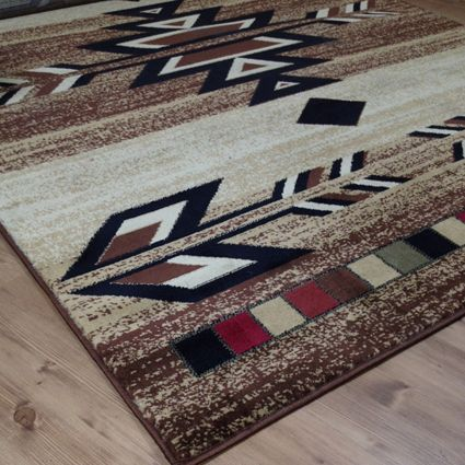 Rio Grande Quick Ship Antique Beige Southwestern Area Rug
