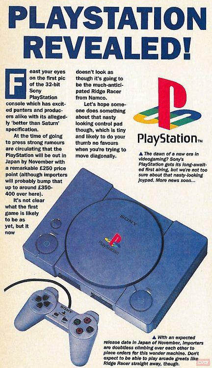 Playstation Revealed! From CVG magazine.