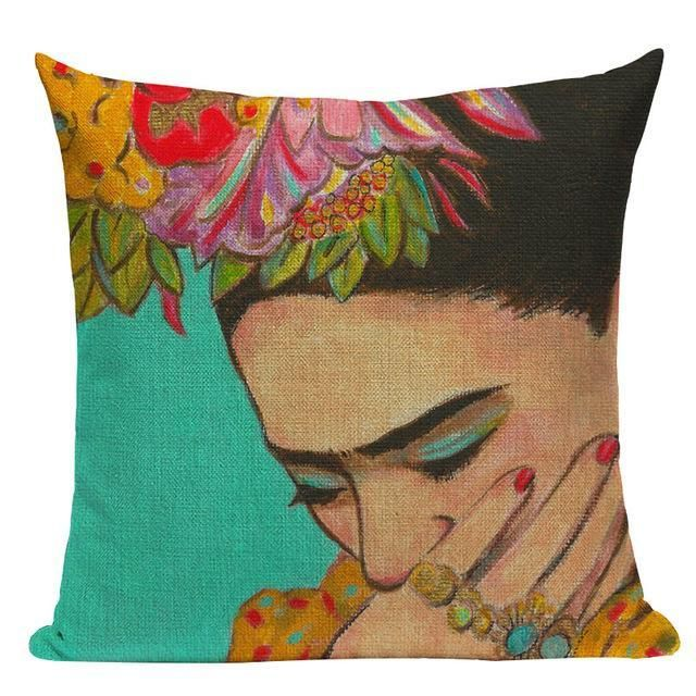 Frida Kahlo Art Cushion Covers Pillows Printed Throw Pillows Throw Pillows