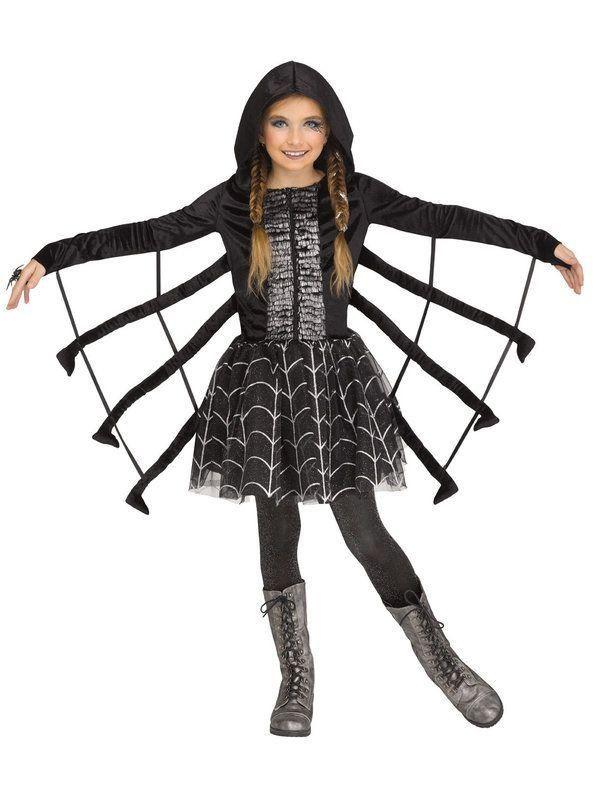 Black Spider Web Cape Childrens Halloween Fancy Dress Accessory Age 12