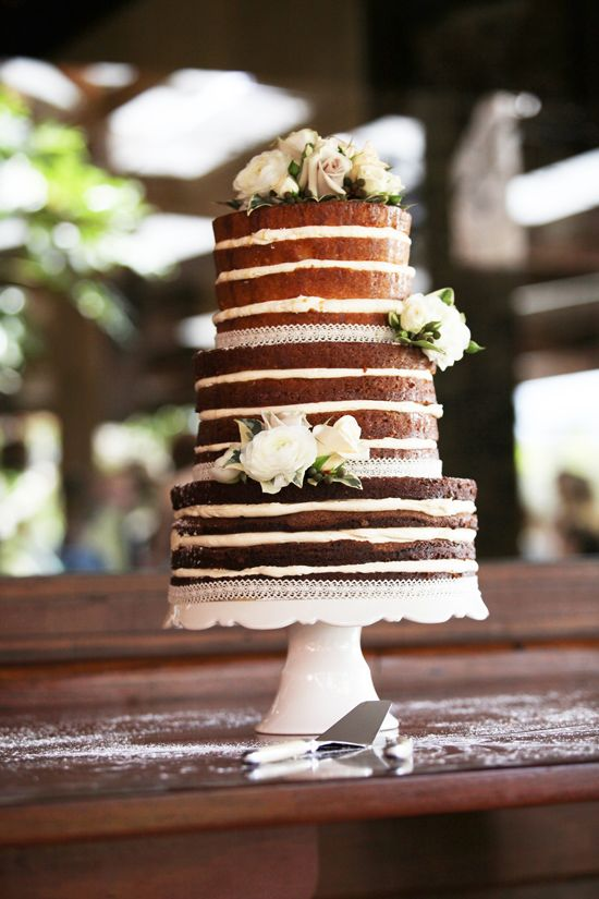 Naked Wedding Cakes. The Cake I. Morrison Photography.