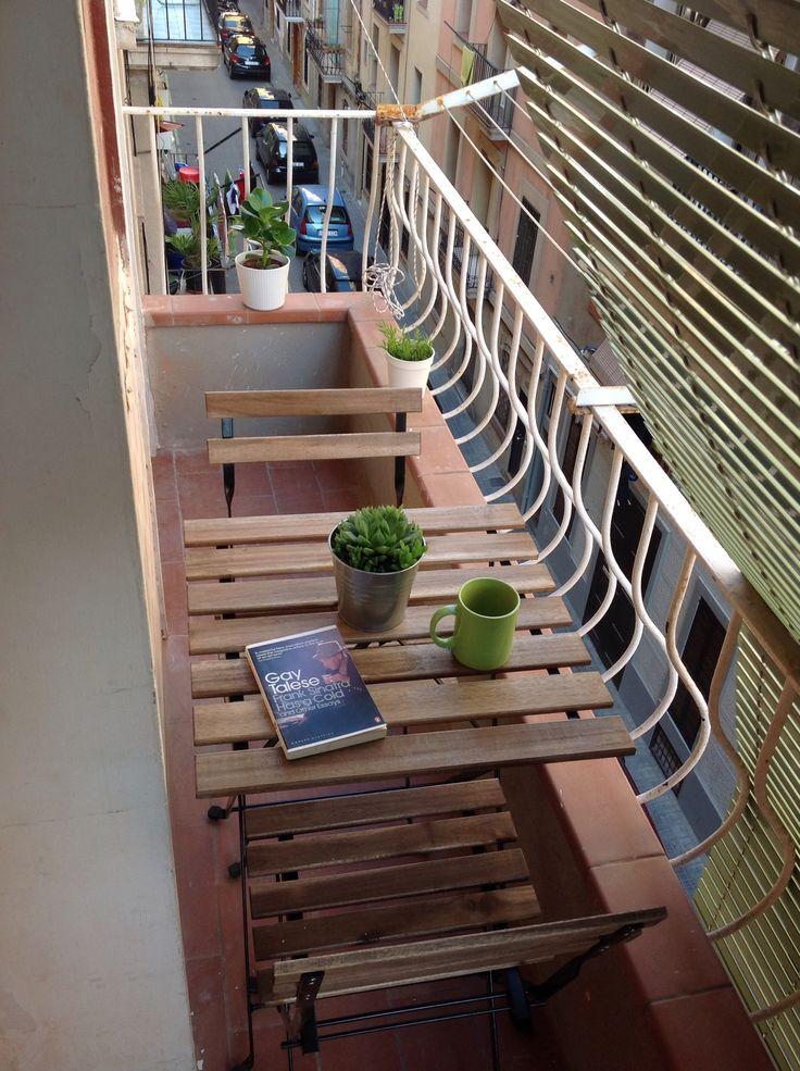 Barceloneta apartment refurbisment, Balcony, mediterranean blindings