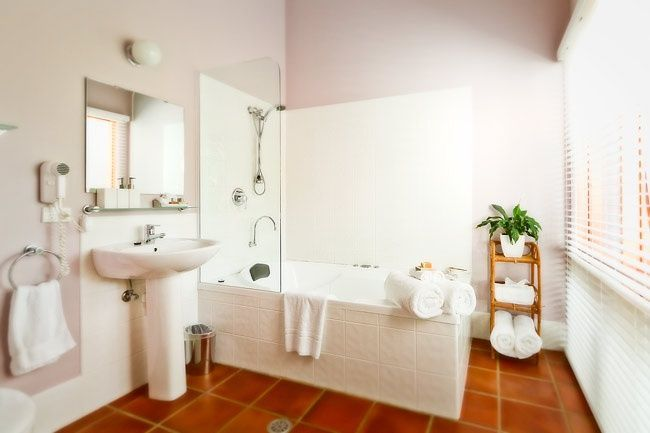 Terracotta Color Tile For White Bathroom Yahoo Image Search