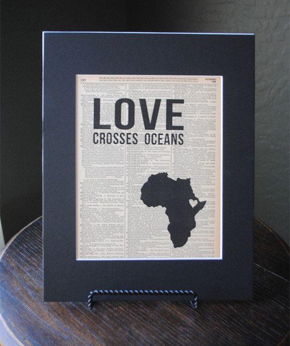 Love Crosses Oceans Ethiopia  Vintage by RedeemedTreasures on Etsy, $15.00