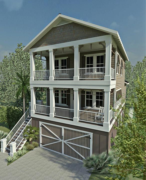 17 best images about coastal house plans on pinterest for Custom beach house
