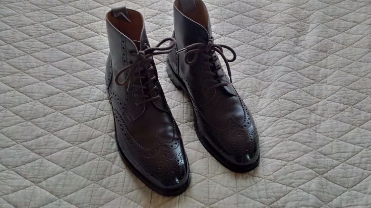 Beautiful pair of Barker Black Brogue boots in sz 9F. These are listed in UK sizes (9F,) I find it fits more like a 9.5 (my normal size). Tons on life left in the soles as seen in the pictures, these were only worn less than 10 times! | eBay!