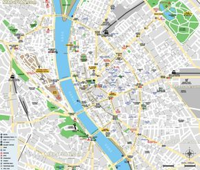 free inner city main landmarks historical sight jewish quarter great synagogue museum church pub bar nightlife club Budapest top tourist attractions map