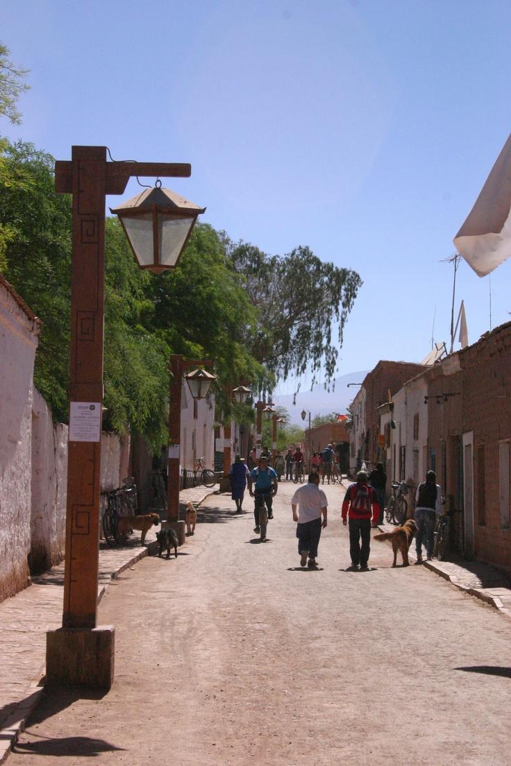 Calle de San Pedro de Atacama / San Pedro de Atacama street, II región, Chile