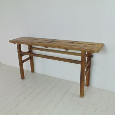 Rustic wooden console bench table