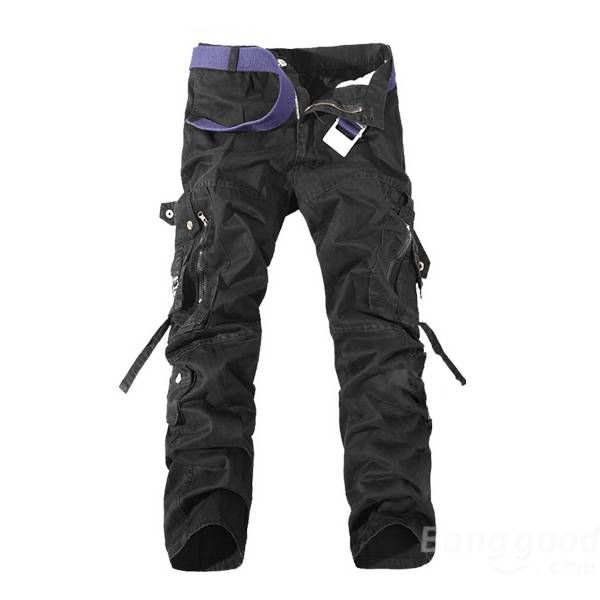 Cargo Pants Multi Pockets Casual Cotton Pants Work Overalls