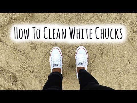 How to clean white converse without bleach youtube important things pinterest bleach - Get clean white socks without bleach ...