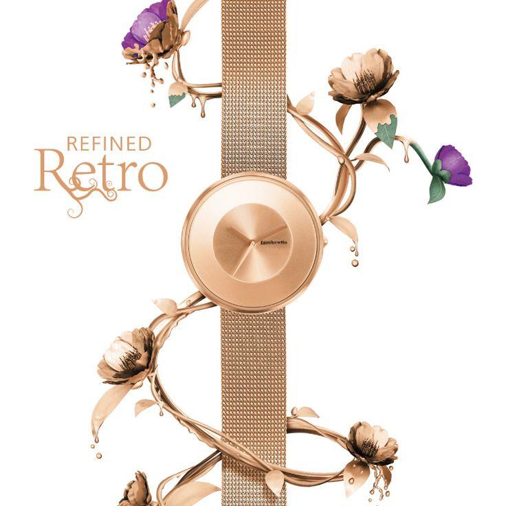 ¡El reloj de moda ya está aquí! Reloj Oro Rosa Retro Cielo Mesh de Lambretta. http://www.tutunca.es/reloj-oro-rosa-lambretta-retro-cielo-mesh