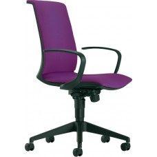 Guest bureaustoel stoffen rug