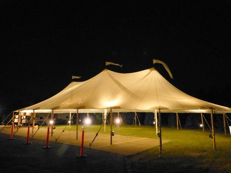 Size 44′ X 44′ , 44′ X 84′ and 44′ X 104′ Inspired by the sea, the elegant  Sailcloth Tent fabric is 100% waterproof and built strong to help assure your special day is not affected by the elements .  With nautical flair, the sculpted peaks and eaves combine with a no-valance design, creating an …