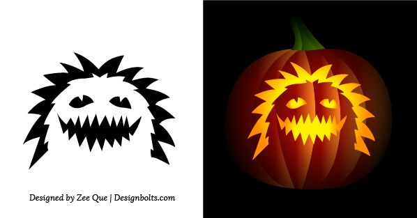 17 best ideas about easy pumpkin carving on pinterest for Simple pumpkin stencils