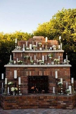If you are lucky enough to find an EPIC fireplace, make sure you decorate appropriately.