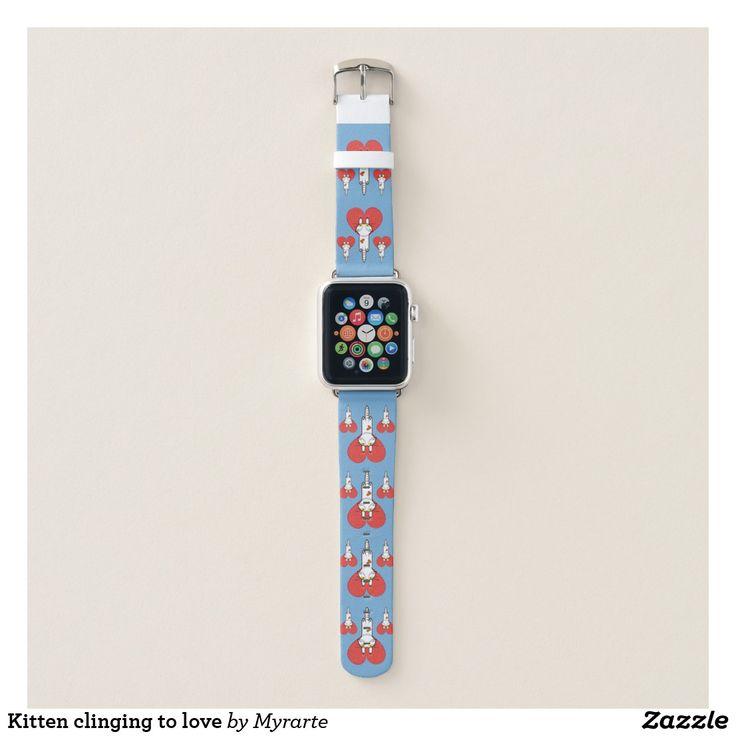 Kitten clinging to love. Producto disponible en tienda Zazzle. Accesorios, moda. Product available in Zazzle store. Fashion Accessories. Regalos, Gifts. #reloj #watch #bands
