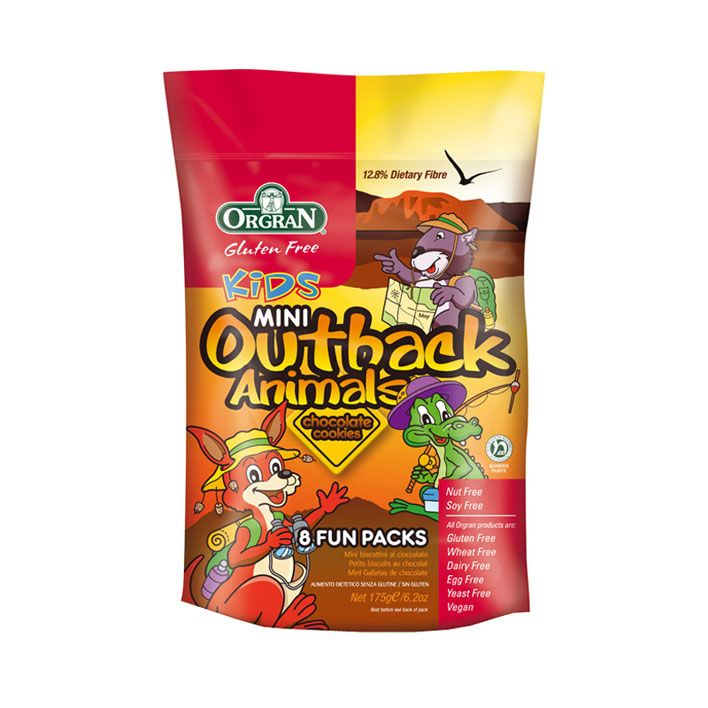 Orgran Outback animals chocolade