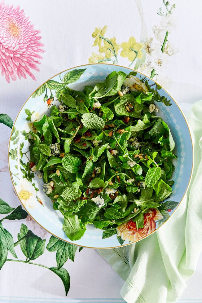 Arugula Salad with Pancetta and Mint