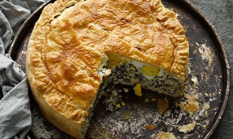 Yotam Ottolenghi's torta pasqualina: 'A great dish to have in the fridge over the Easter weekend.' Photograph: Colin Campbell for the Guardian. Food styling: Claire Ptak