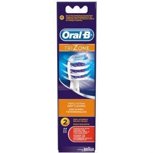 Oral-B Opzetborstels TriZone 2 stuks  Description: De Oral-B TriZone Electrische tandenborstel opzetborstels zorgen voor superieure plakverwijdering.  Driezone reinigingstechnologie verwijdert tot 100% meer plak dan een normale handtandenborstel  Geavanceerde driezone reinigingstechnologie: 1) Dynamische top voor moeilijk te bereiken achterkant van de tanden; 2) Kortere stilstaande borstelharen voor grondige reiniging van tandoppervlaktes; 3) Langere bewegende borstelharen voor diep tussen…