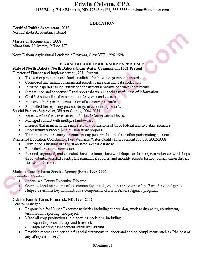 chronological resume example cpa pg1 resume accountant in