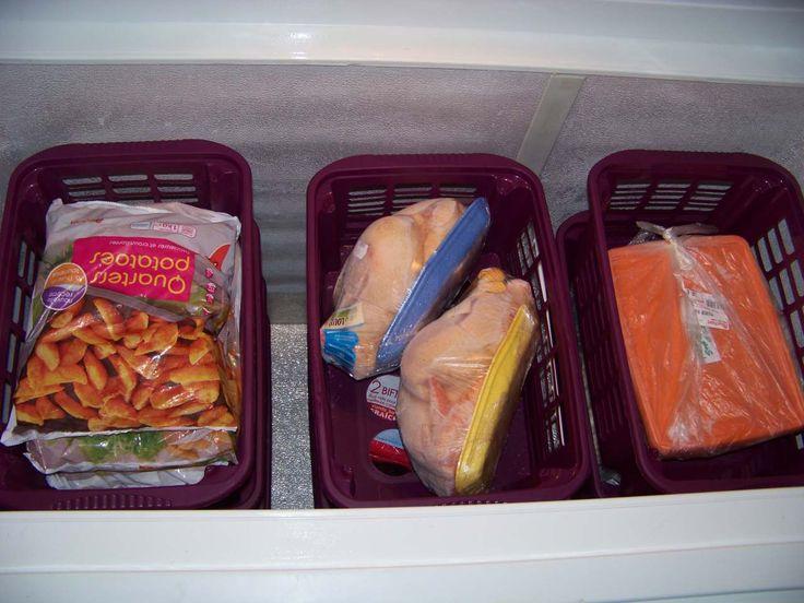 Organisation et Rangement d'un congelateur coffre - banc